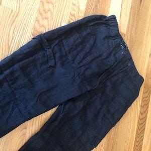 Linen Cargo Pants Women's Size S Jogger